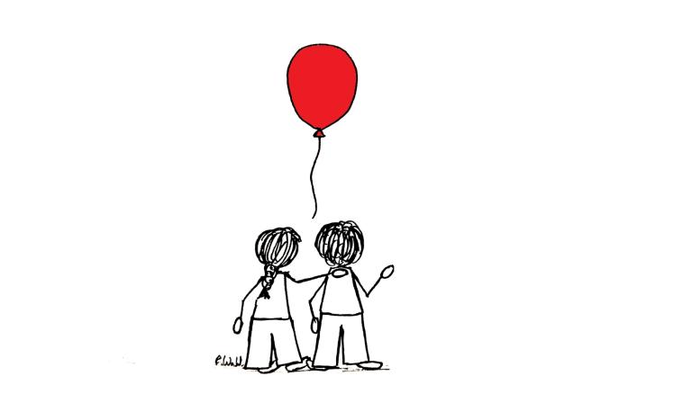 Ballon Gruppe_nur zwei Personen